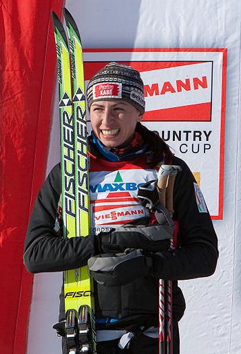 Justyna Kowalczyk po fenomenalnym finiszu pokonała Marit Bjoergen zdobywając złoty medal w biegu na 30 km – pierwszy na ZIO od 38 lat. Fot Tor Atle Kleven from Trondheim, Norway http://pl.wikinews.org/wiki/Plik:Kowalczyk-Trondheim09.jpg